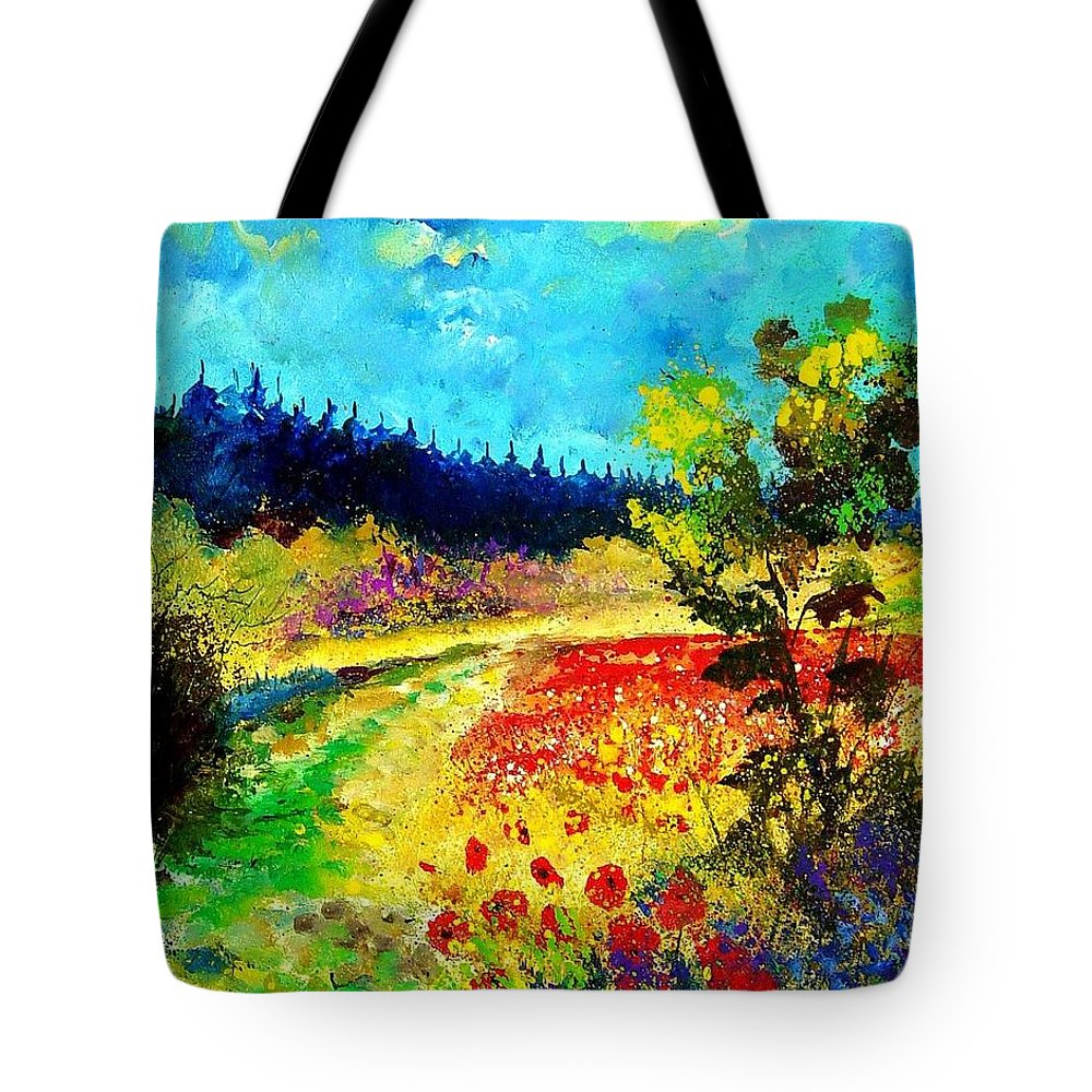 Flowers Tote Bag featuring the painting Summer by Pol Ledent