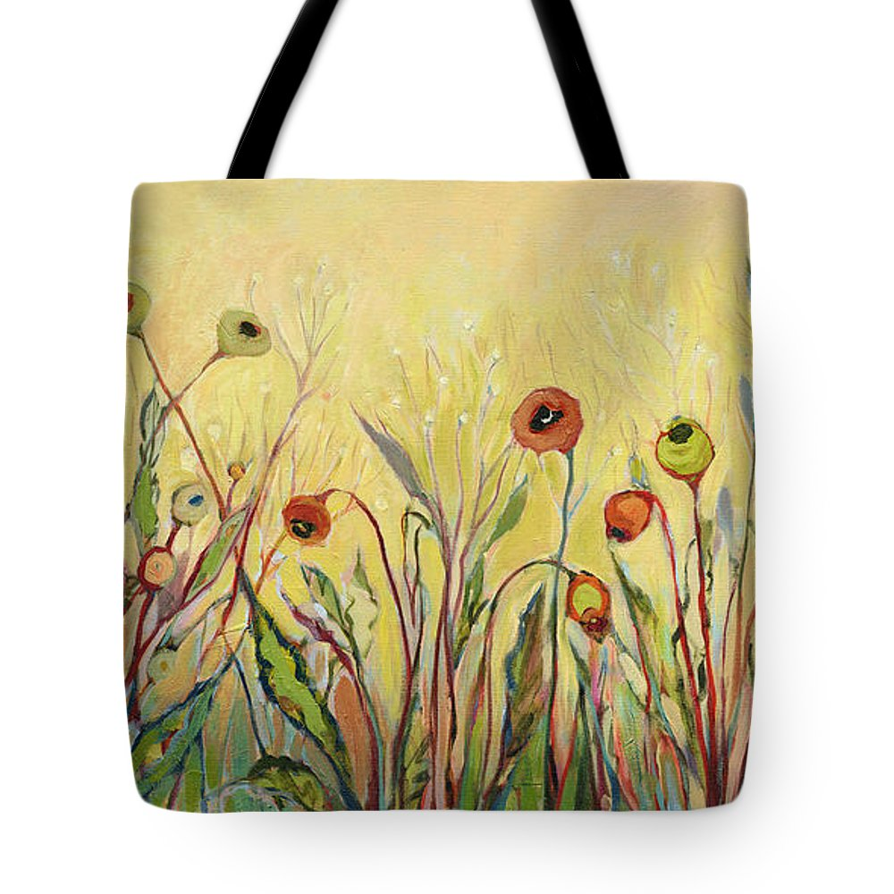 Poppy Tote Bag featuring the painting Summer Poppies by Jennifer Lommers
