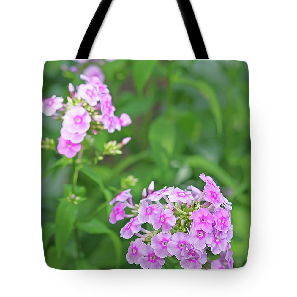 Nature Tote Bag featuring the photograph Summer Purple Flower by Cosmin-Constantin Sava