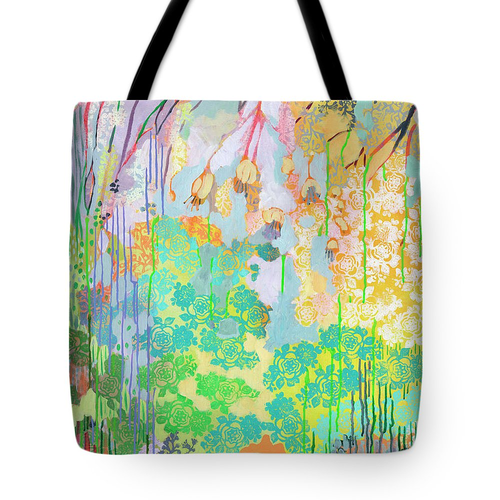 Tree Tote Bag featuring the painting Summer Rain Part 2 by Jennifer Lommers