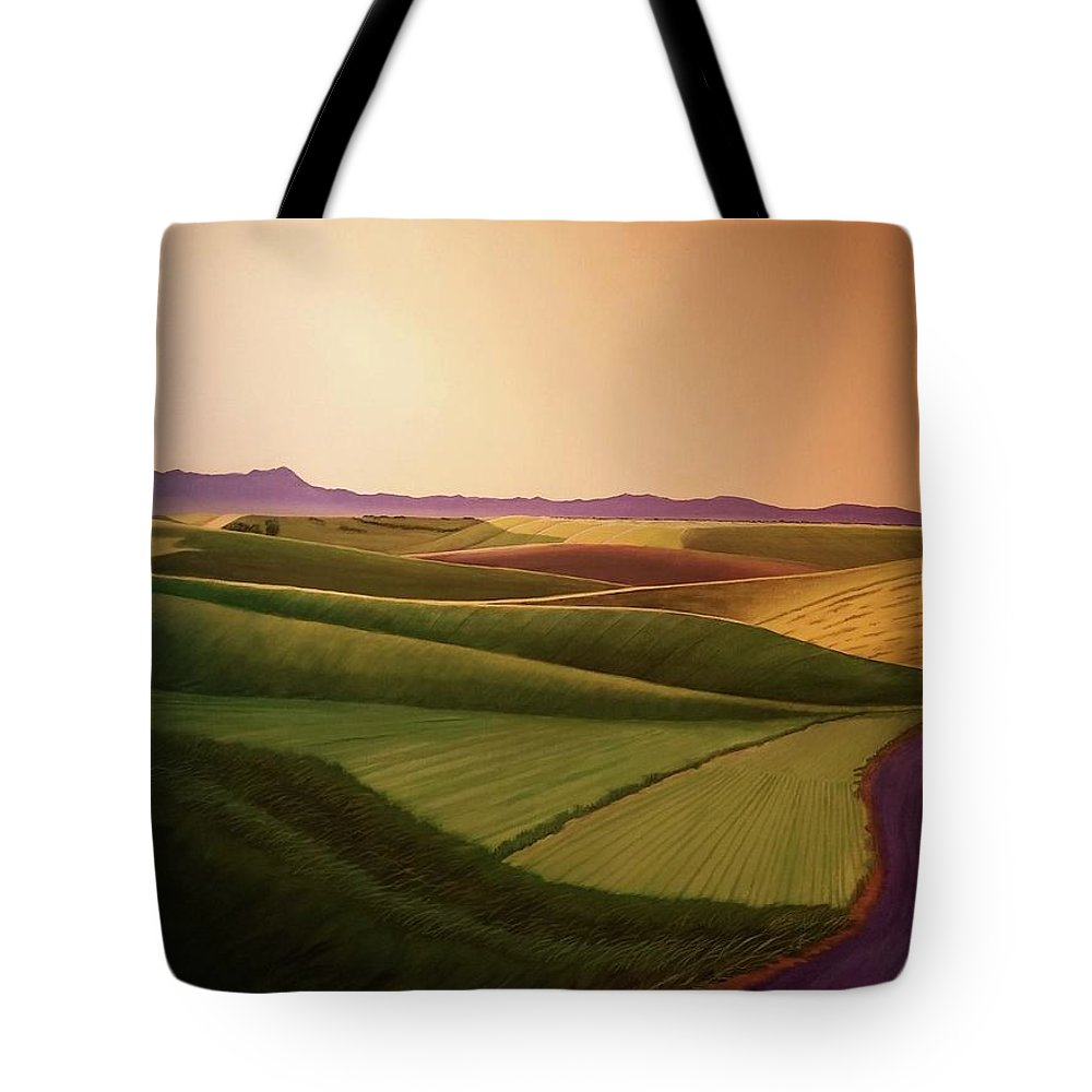 Summer Tote Bag featuring the painting Summer Road by Leonard Heid