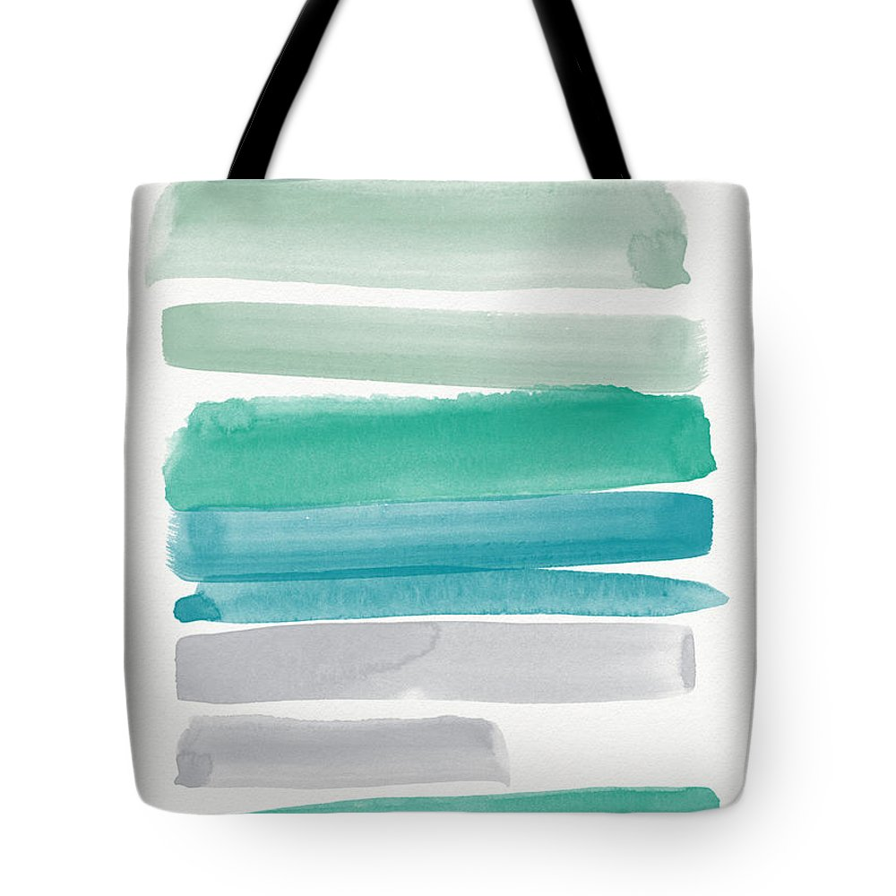 Abstract Sky Tote Bag featuring the painting Summer Sky by Linda Woods