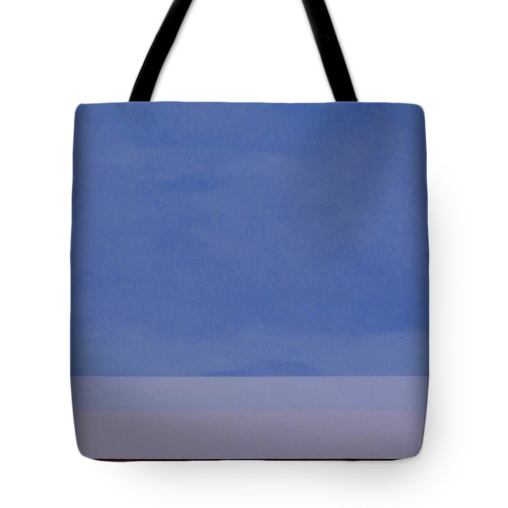 Washington State; Landscape; Sky; Fields; Earth; Blue; Brown; Farming; Agriculture Tote Bag featuring the painting Summer Sky by Teresa St George