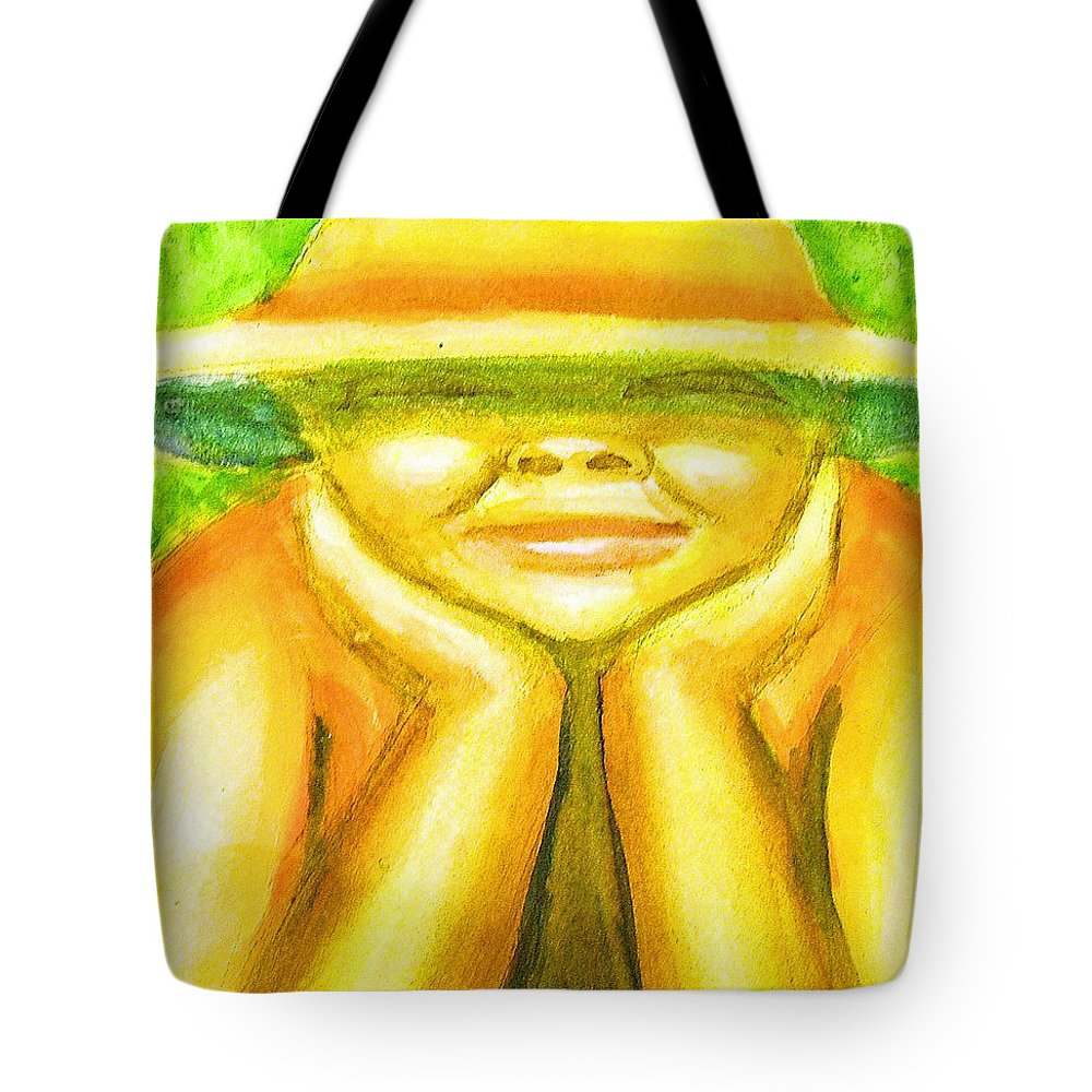 Tote Bag featuring the painting Summer Sun by Jan Gilmore