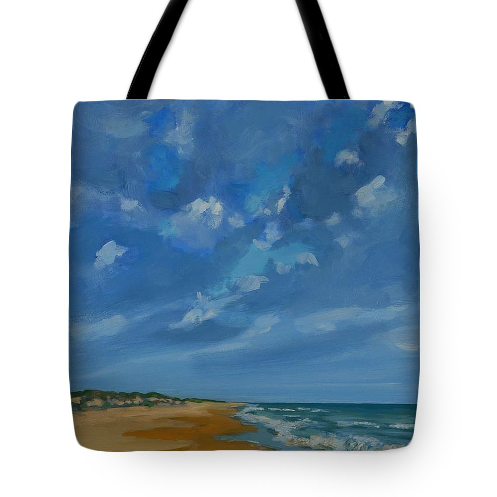 Summer Tote Bag featuring the painting Summer Tides by Eugenie B Fein