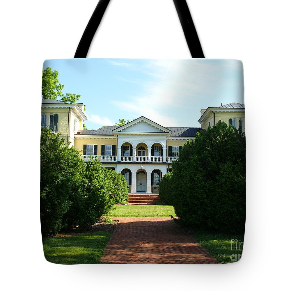 Sweet Briar Tote Bag featuring the photograph Summer Time At Sweet Briar House by Katherine W Morse