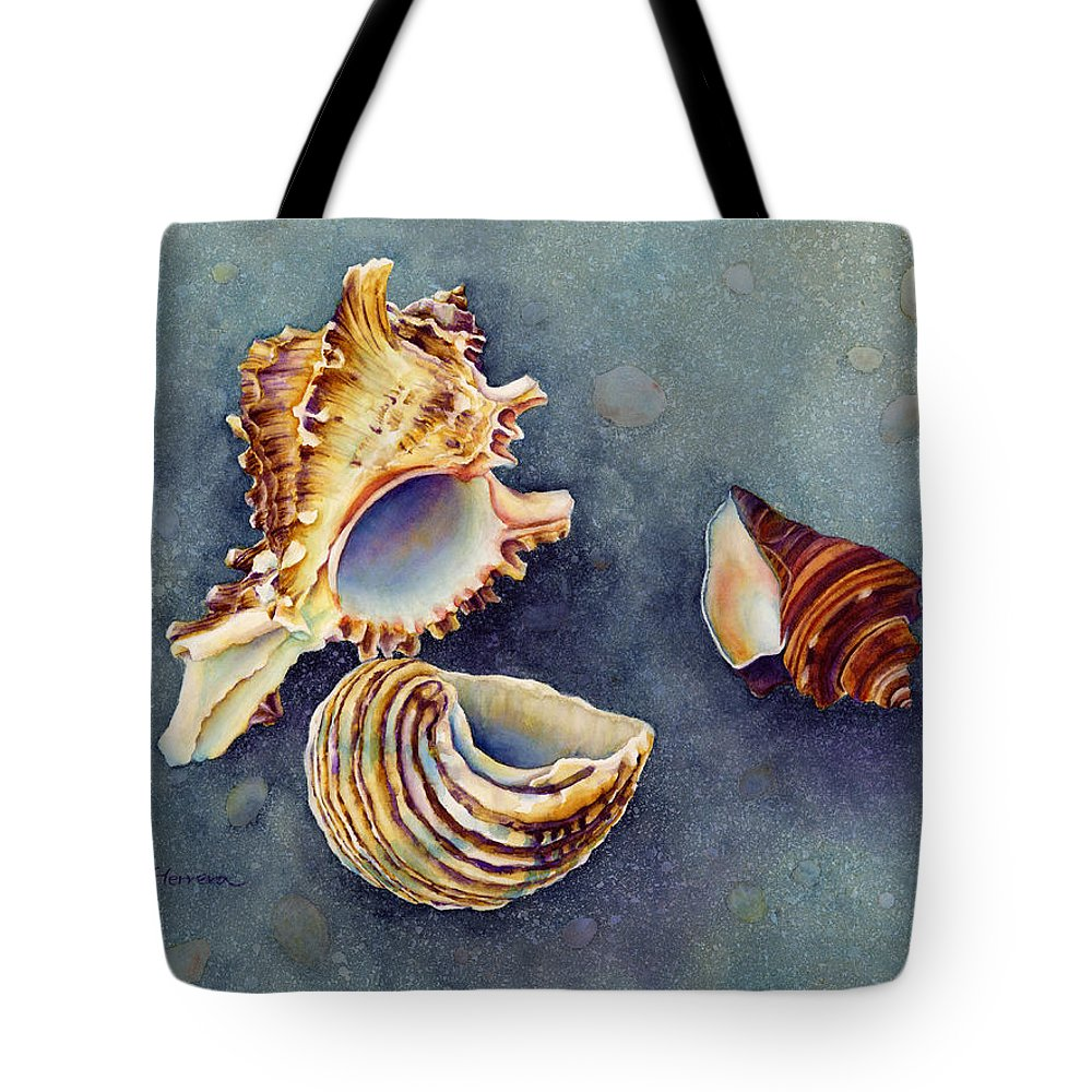 Seashell Tote Bag featuring the painting Summer Whispers by Hailey E Herrera