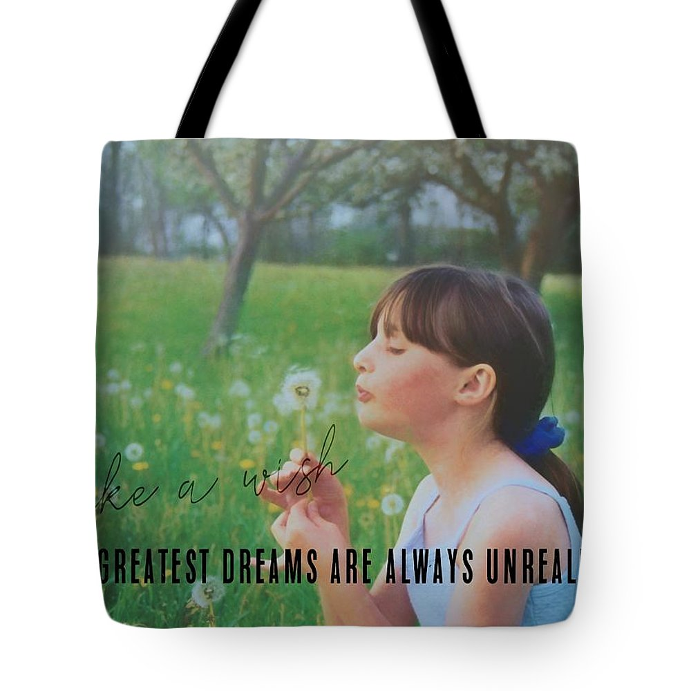 Child Tote Bag featuring the photograph Summer Wish Quote by JAMART Photography