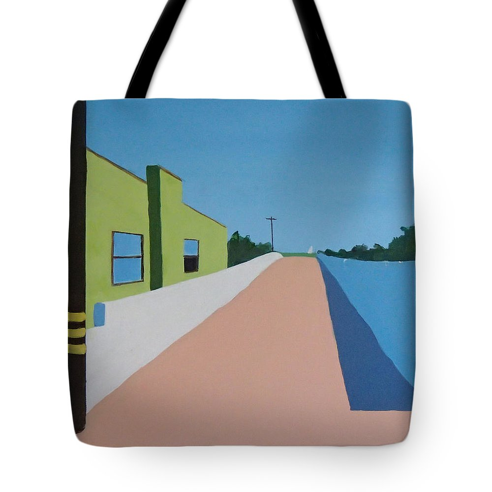 Summerland Tote Bag featuring the painting Summerland by Philip Fleischer