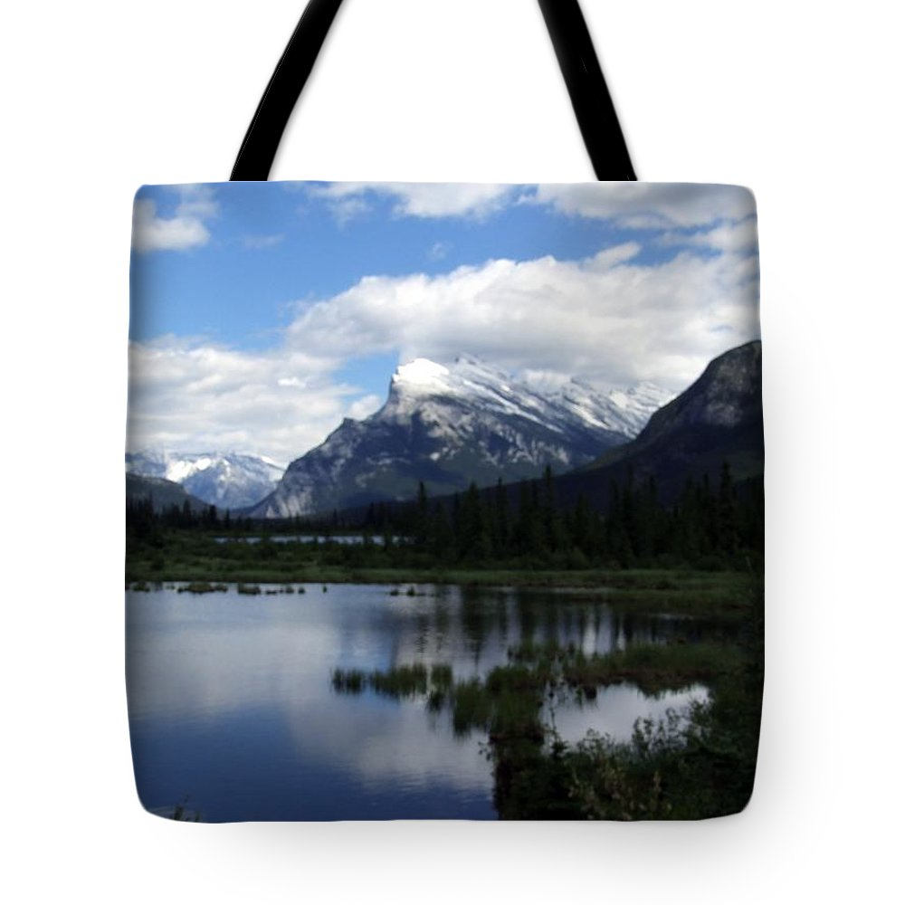 Landscape Tote Bag featuring the photograph Summertime In Vermillion Lakes by Tiffany Vest