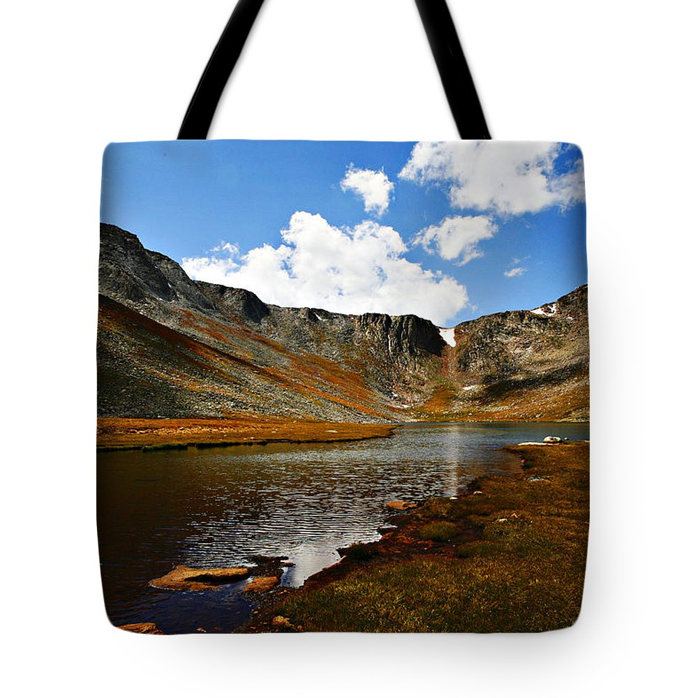 Travel Tote Bag featuring the photograph Summit Lake Colorado by Marilyn Hunt