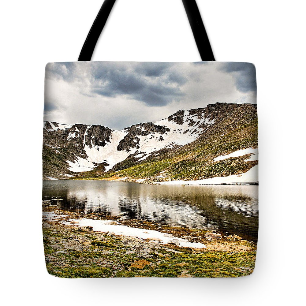 Summit Lake Tote Bag featuring the photograph Summit Lake Study 3 by Robert Meyers-Lussier