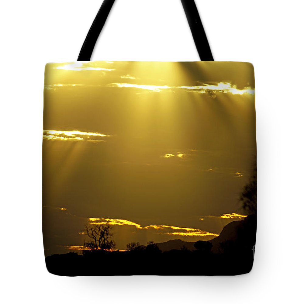 Sunset Tote Bag featuring the photograph Sun 16 by Ben Yassa
