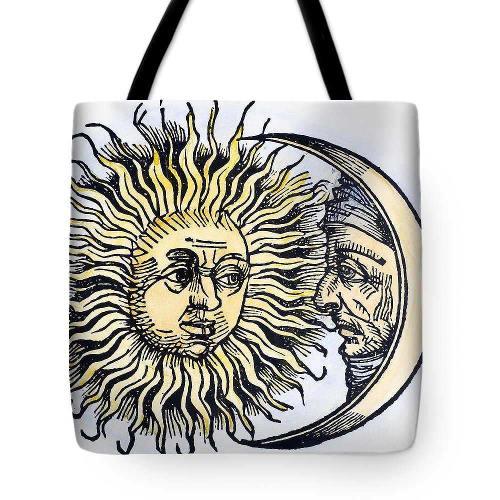 1493 Tote Bag featuring the photograph Sun And Moon, 1493 by Granger