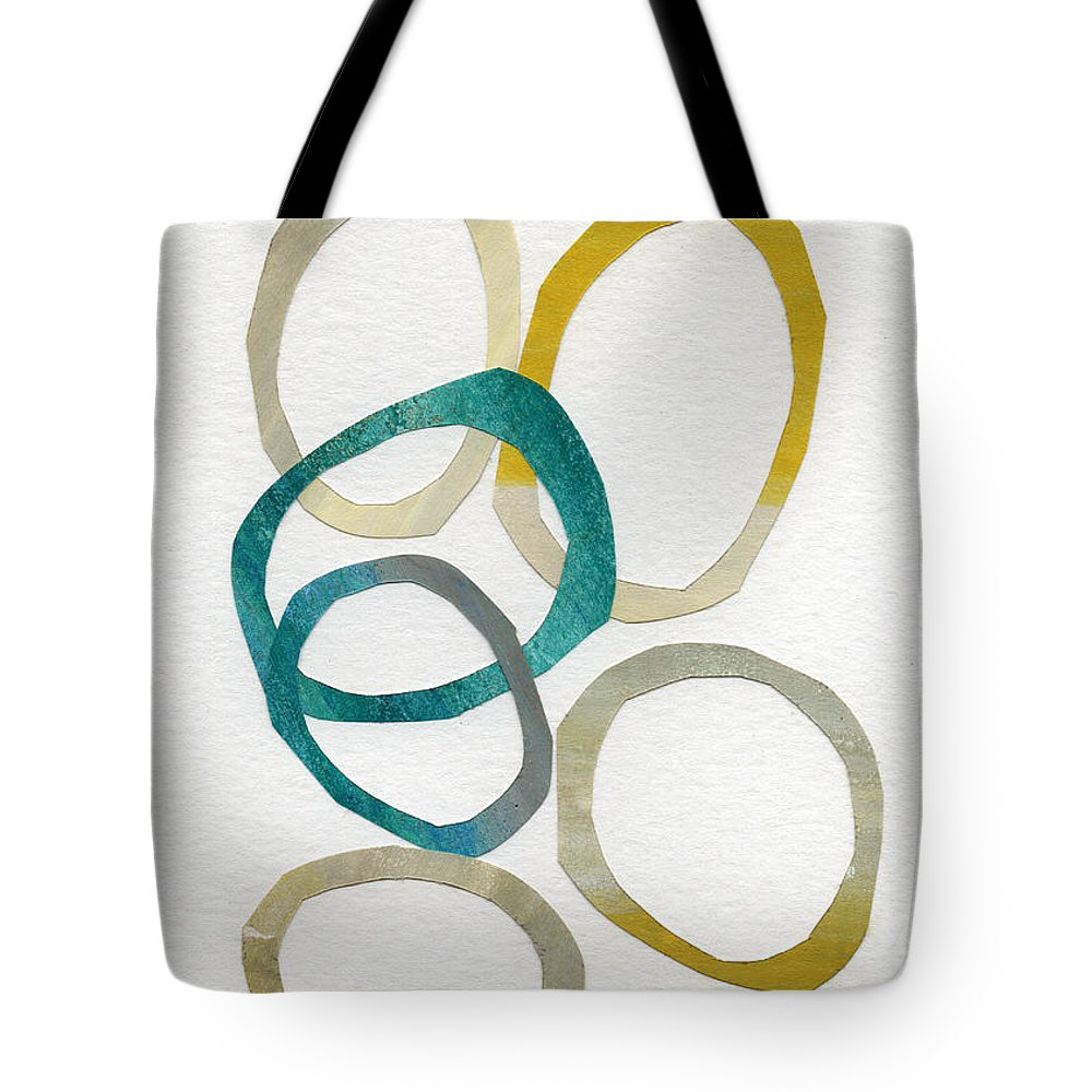 Abstract Art Tote Bag featuring the mixed media Sun and Sky- abstract art by Linda Woods