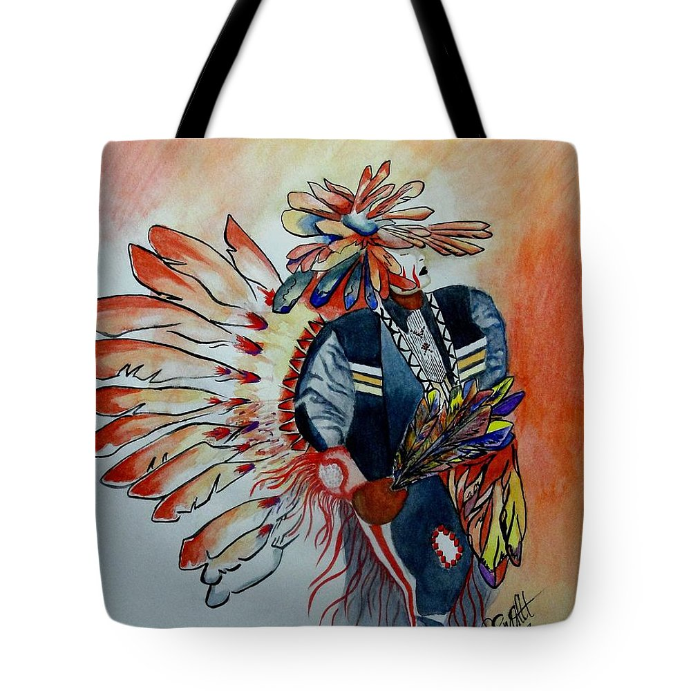 American Tote Bag featuring the painting Sun Dancer by Jimmy Smith