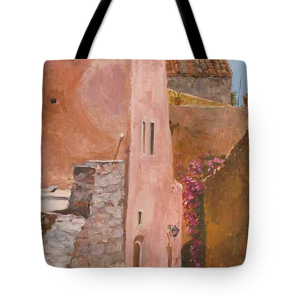 Urban Tote Bag featuring the painting Sun Drenched by Kit Hevron Mahoney