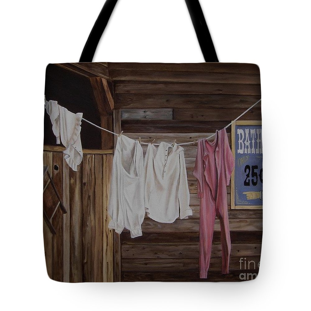 Art Tote Bag featuring the painting Sun Dried by Mary Rogers