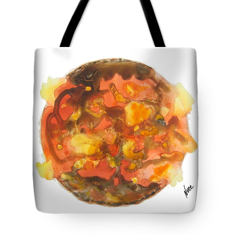 Sun Tote Bag featuring the painting Sun Flares by Nancy Nuce