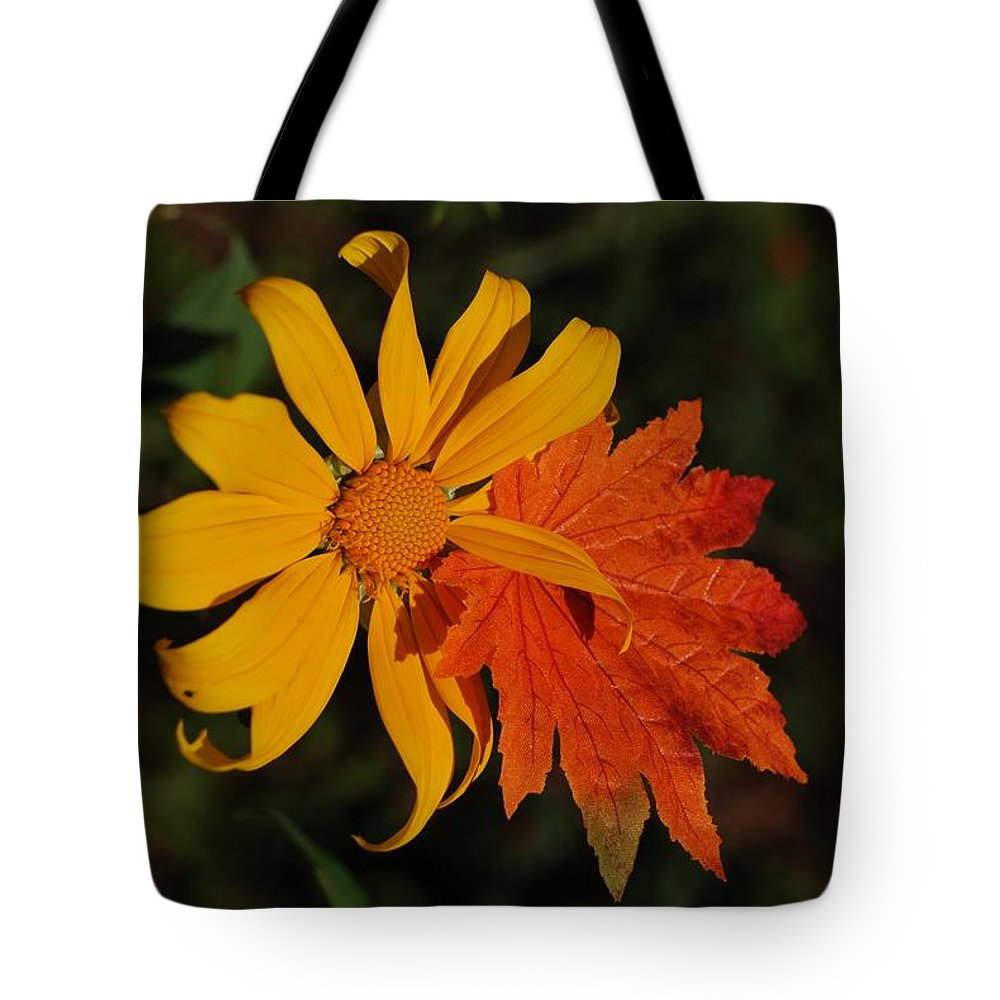 Pop Art Tote Bag featuring the photograph Sun Flower And Leaf by Rob Hans