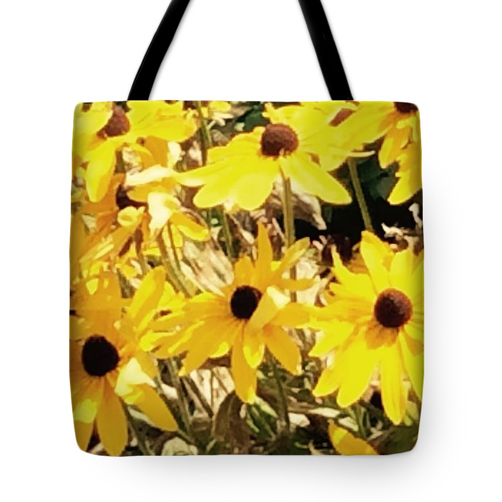 Sunflowers Tote Bag featuring the photograph Sun Flower Glory by Sharon Allen