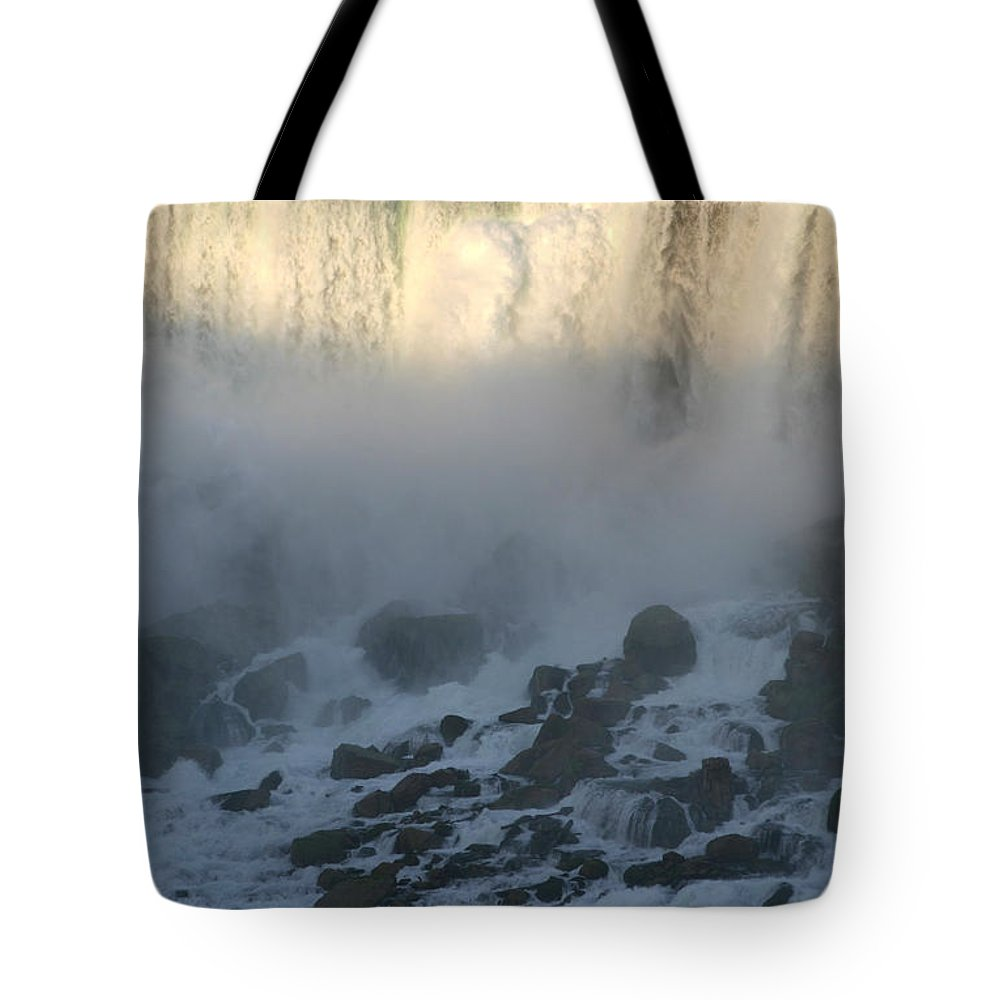 Niagara Falls Tote Bag featuring the photograph Sun Going Down On American Falls by Living Color Photography Lorraine Lynch