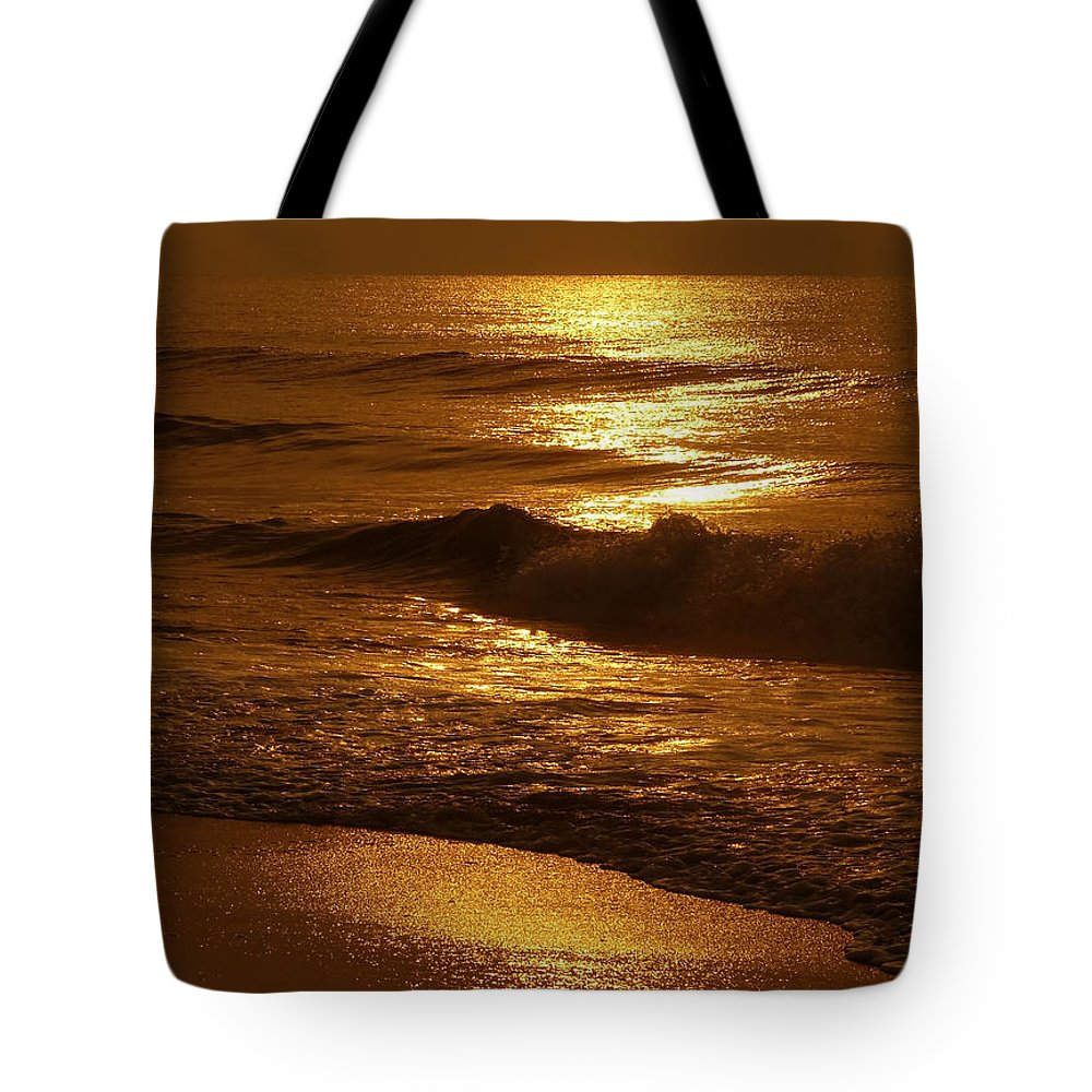 Sunrise Tote Bag featuring the photograph Sun Kissed by Jeff Breiman