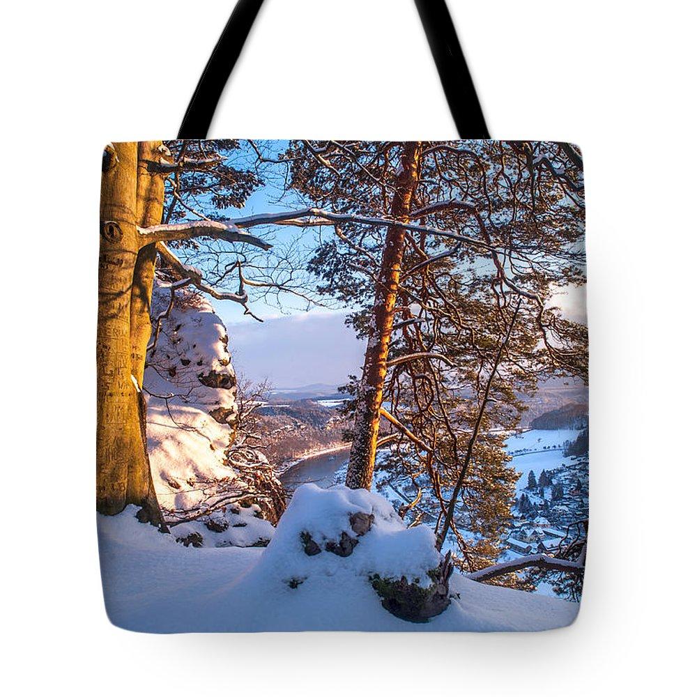 Saxon Switzerland Tote Bag featuring the photograph Sun-kissed. Saxon Switzerland by Jenny Rainbow