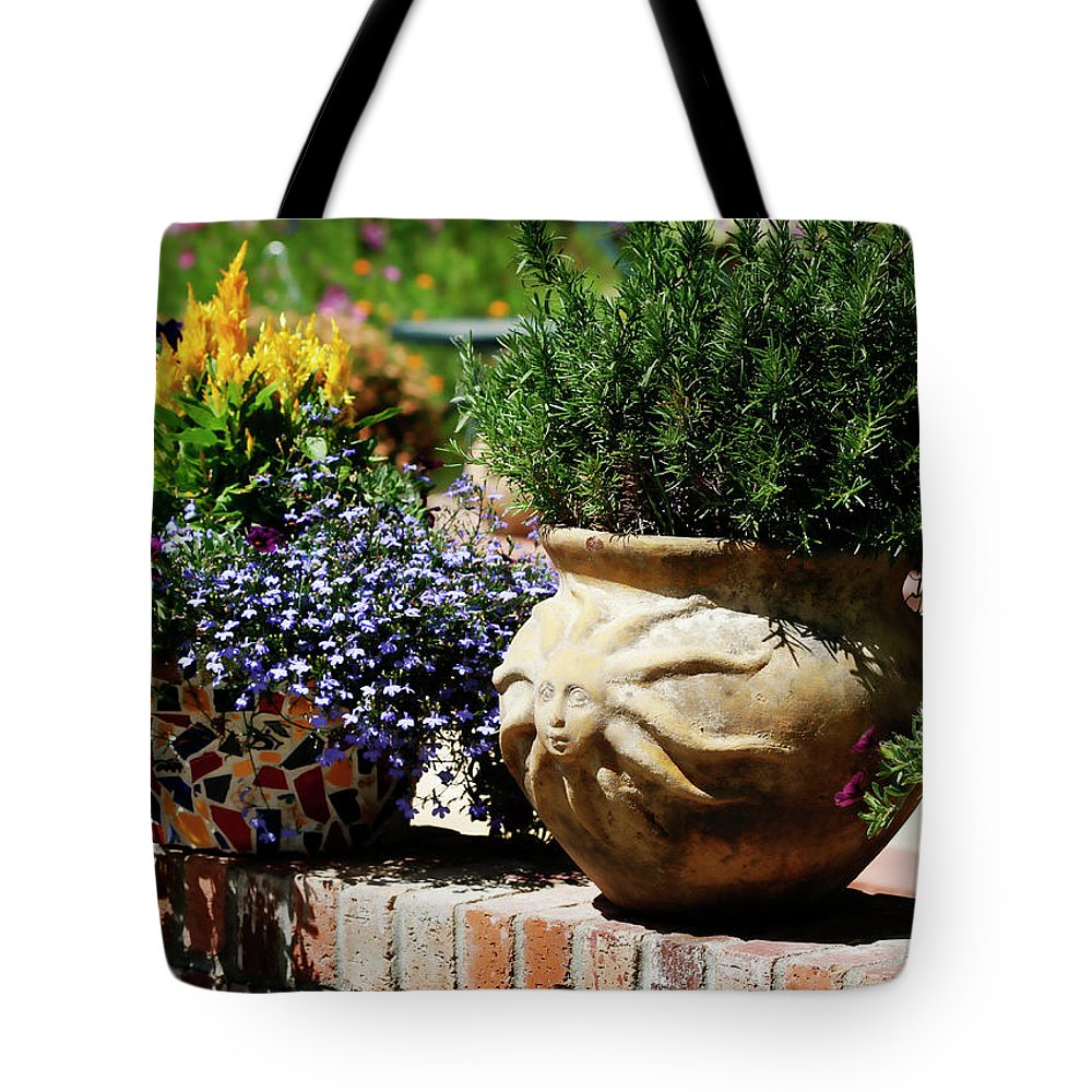 Sun Tote Bag featuring the photograph Sun Pot by Marilyn Hunt