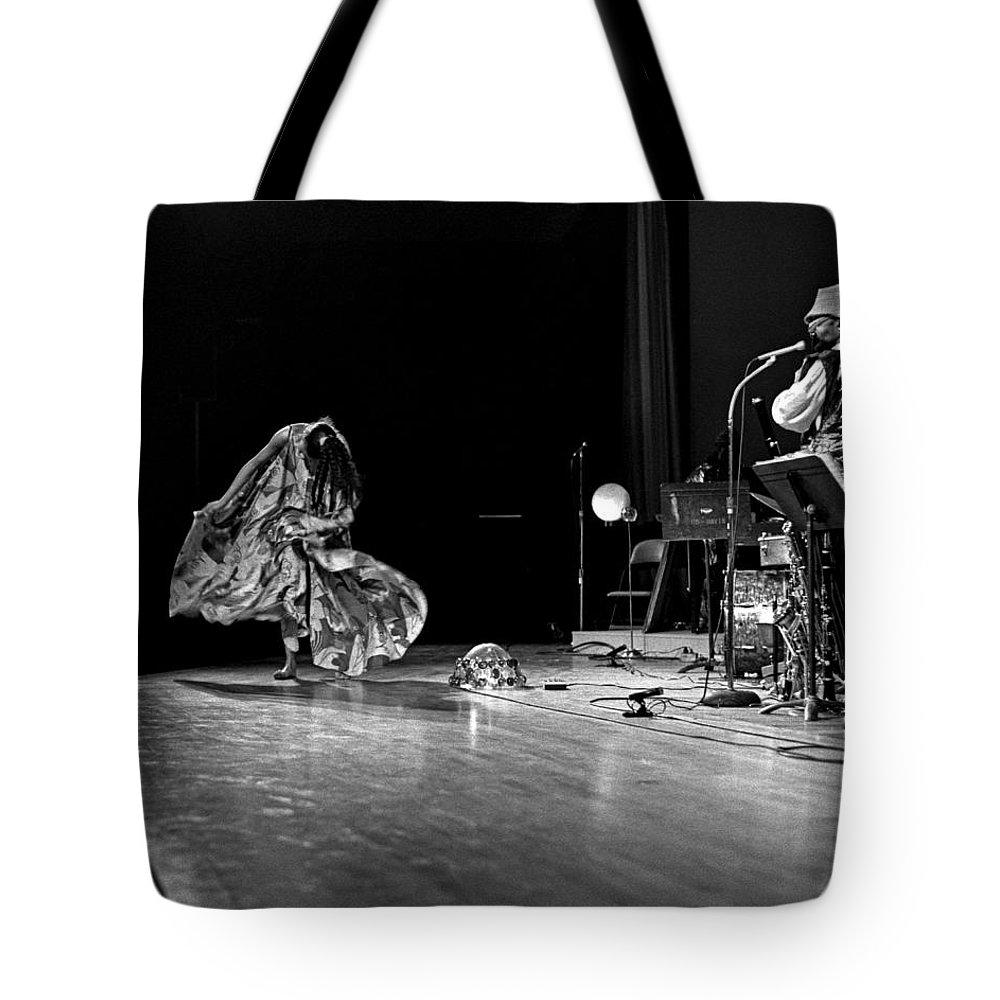 Jazz Tote Bag featuring the photograph Sun Ra Arkestra At Freeborn Hall by Lee Santa