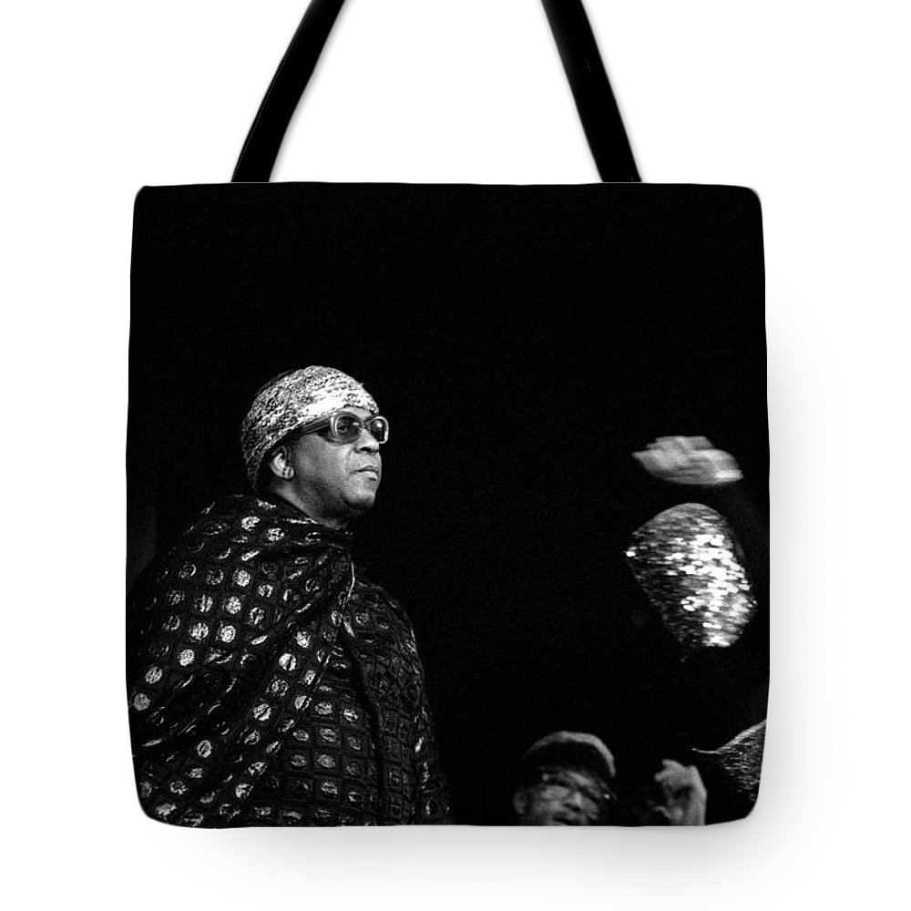 Jazz Tote Bag featuring the photograph Sun Ra by Lee Santa