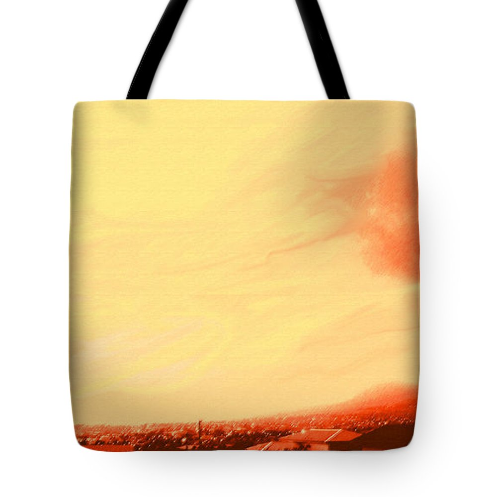 Sunset Tote Bag featuring the photograph Sun Setting Over Basseterre Harbour by Ian MacDonald