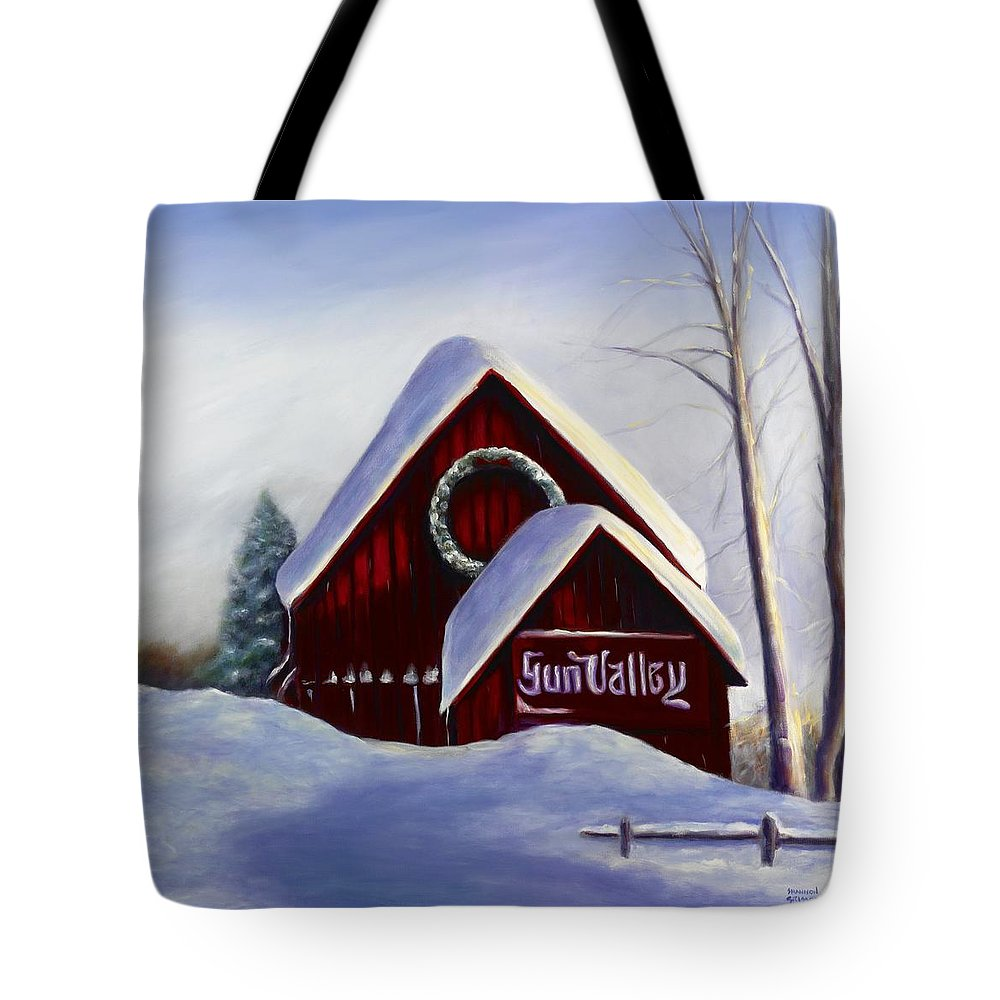 Landscape Tote Bag featuring the painting Sun Valley 3 by Shannon Grissom