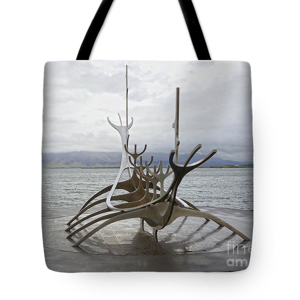 Sun Voyager Tote Bag featuring the photograph Sun Voyager, Reykjavik, Iceland by Catherine Sherman
