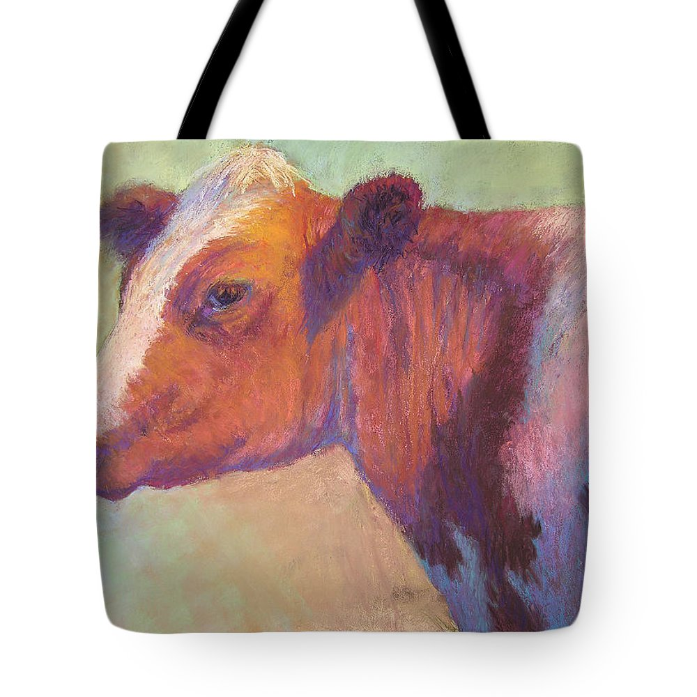 Farm Animals Tote Bag featuring the painting Sunbather by Susan Williamson
