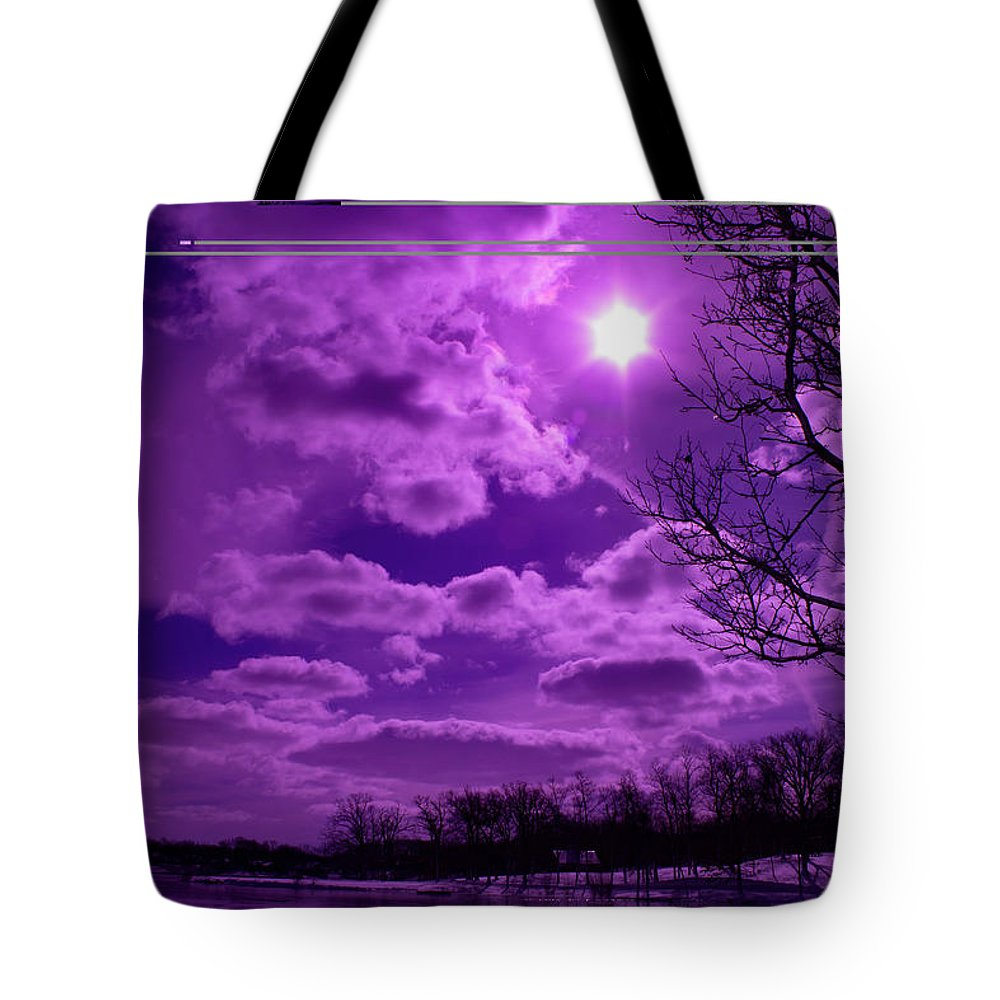Violet Tote Bag featuring the photograph Sunburst In Violet by By Way of Karma