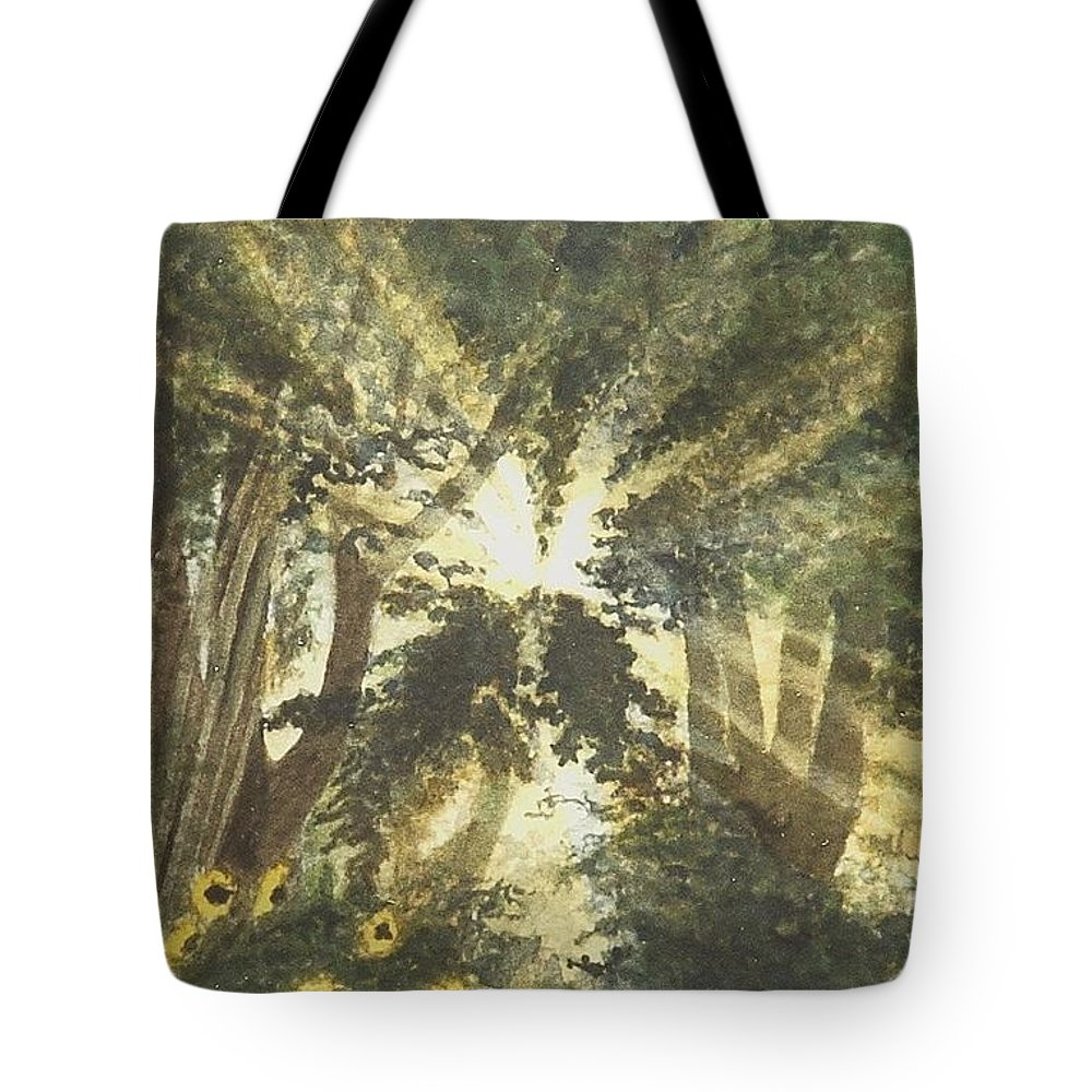 Landscape Tote Bag featuring the painting Sunburst by Lynn ACourt
