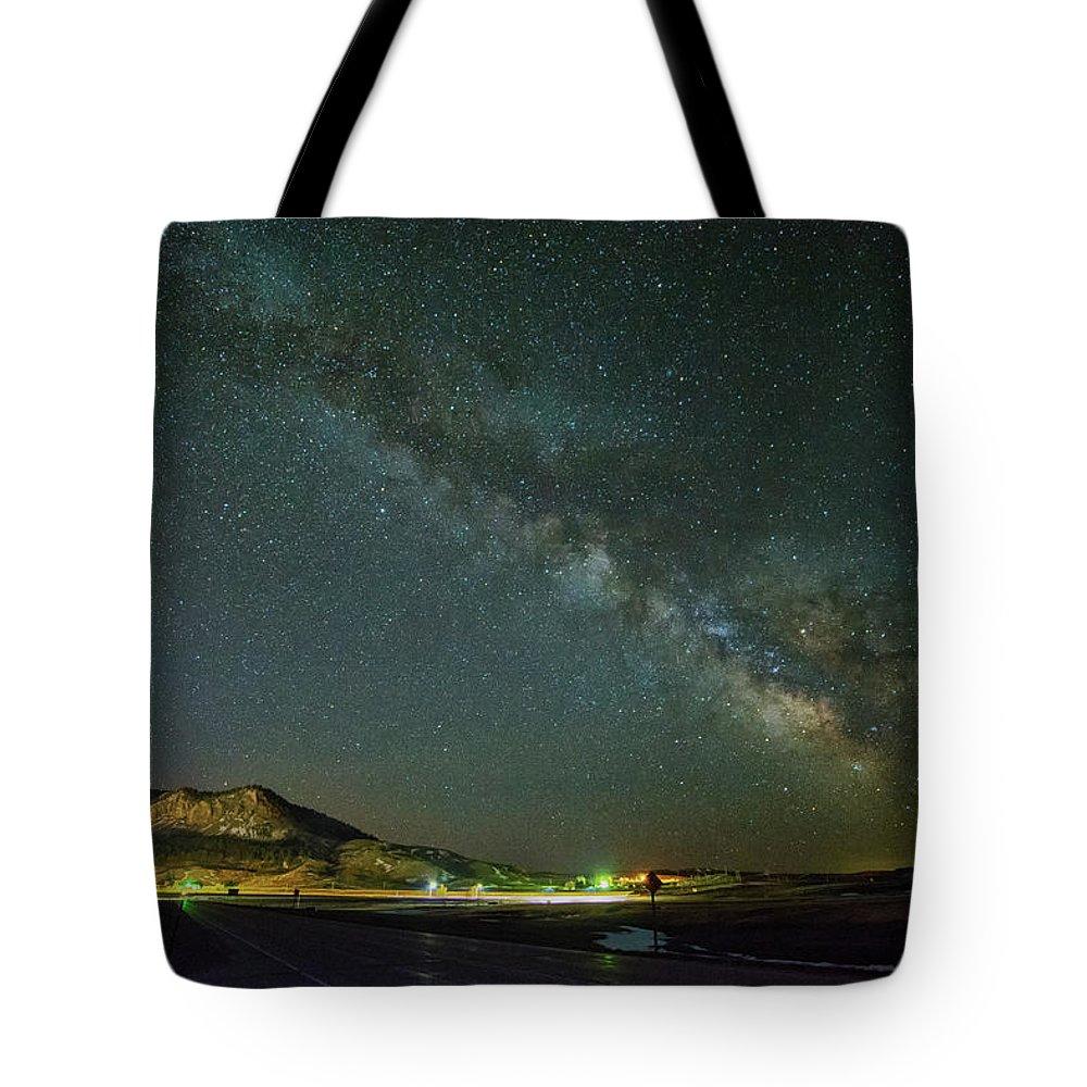 Sundance Tote Bag featuring the photograph Sundance Milky Way by Fiskr Larsen