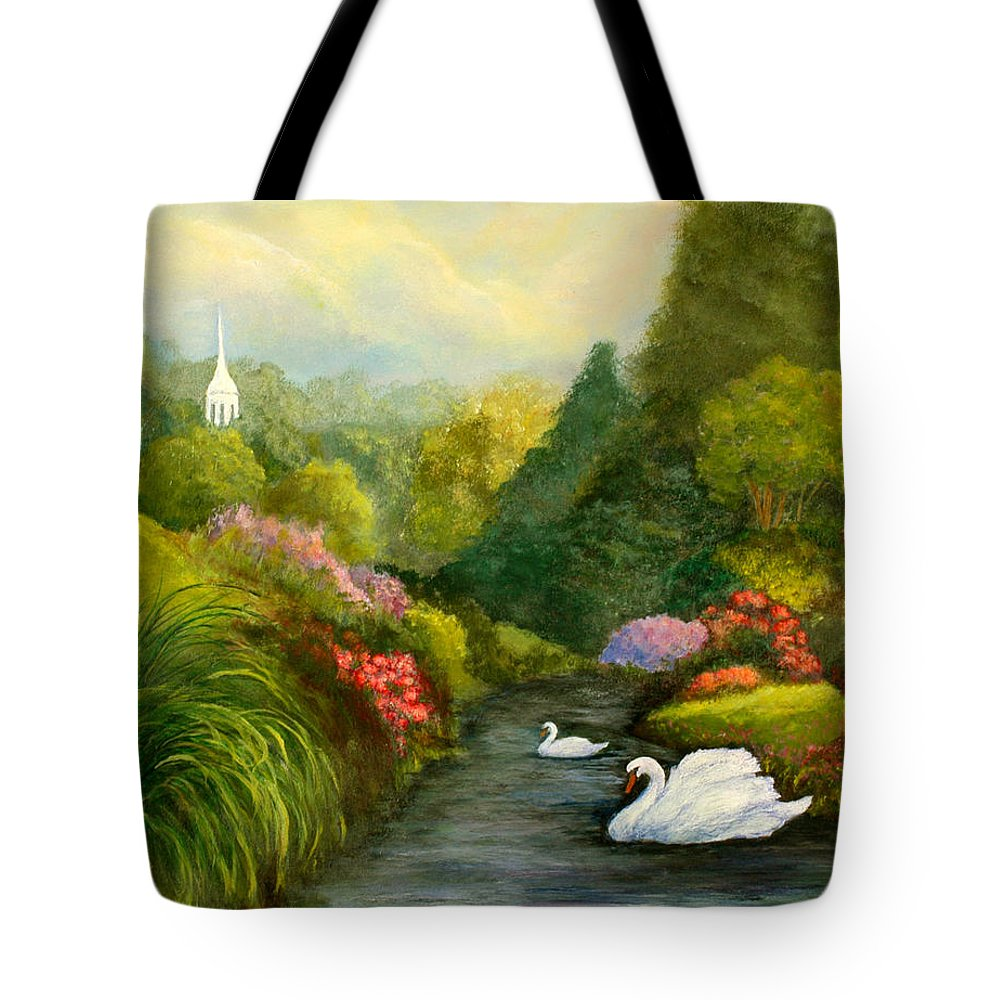 Christian Tote Bag featuring the painting Sunday Afternoon by Gail Kirtz