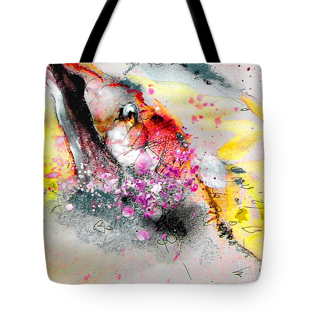 Pastel Painting Tote Bag featuring the painting Sunday By The Tree by Miki De Goodaboom