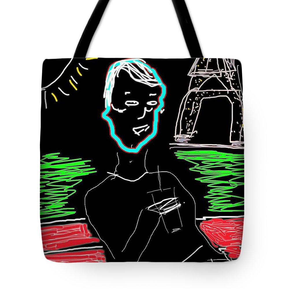 Paris Tote Bag featuring the photograph Sunday In Paris by Kathy Barney