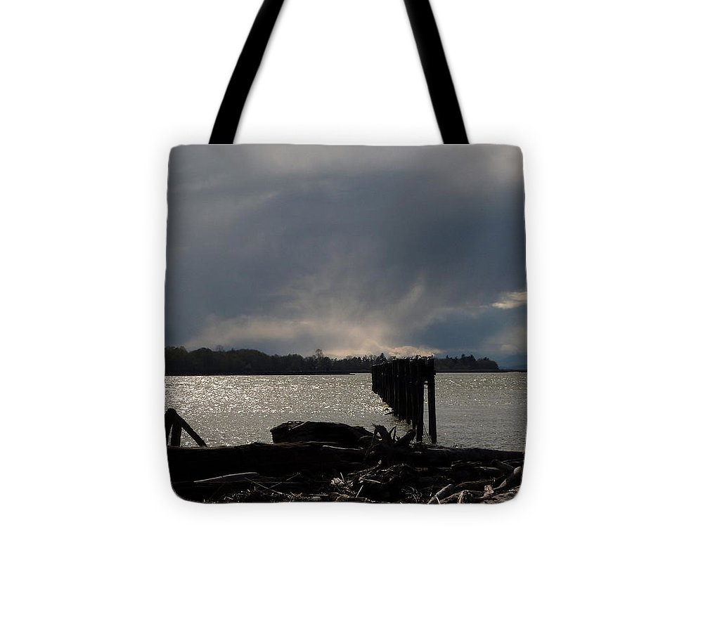 Fraser River Tote Bag featuring the photograph Sunday March 27 2016 by Darrell MacIver
