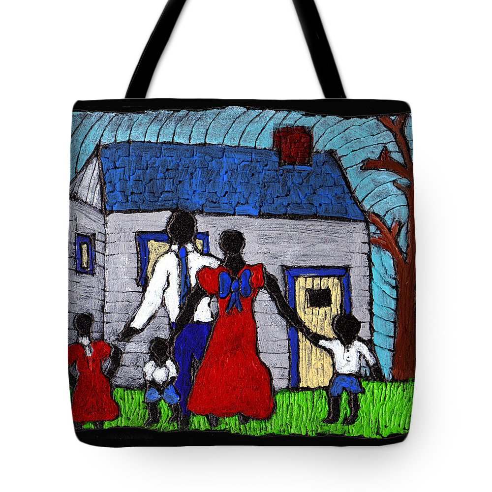 Family Tote Bag featuring the painting Sunday Morning Finest by Wayne Potrafka