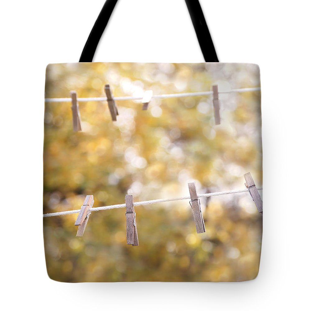 Clothesline Tote Bag featuring the photograph Sunday Wash #2 by Angie Rea