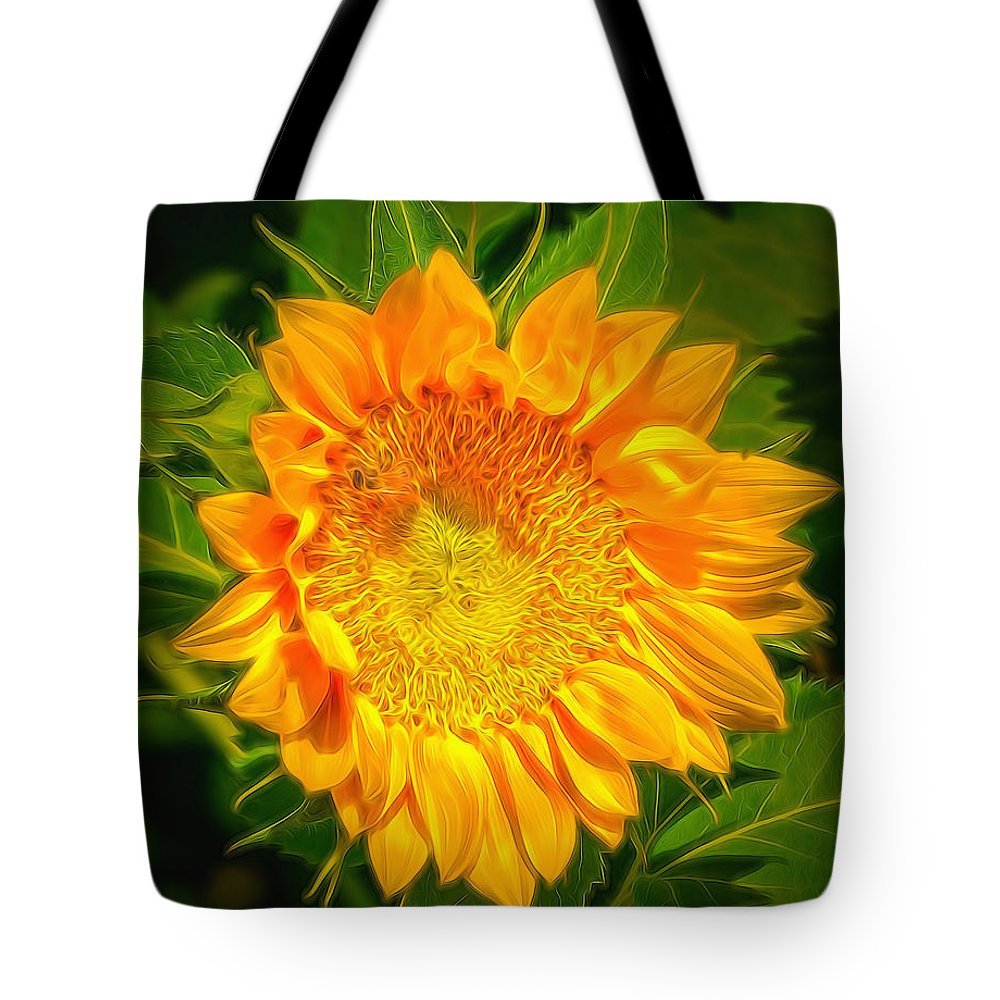 Sunflower Tote Bag featuring the photograph Sunflower 6 by Larry White