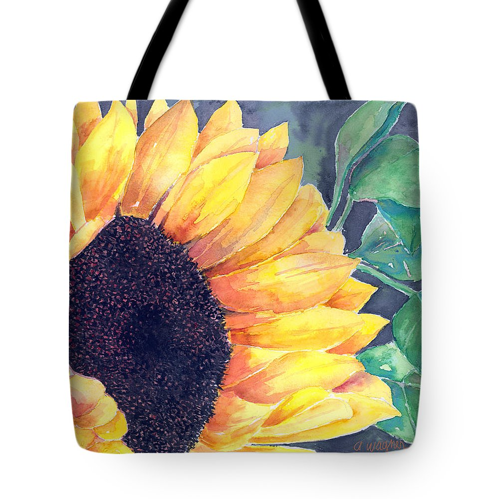 Sunflower Tote Bag featuring the painting Sunflower by Arline Wagner