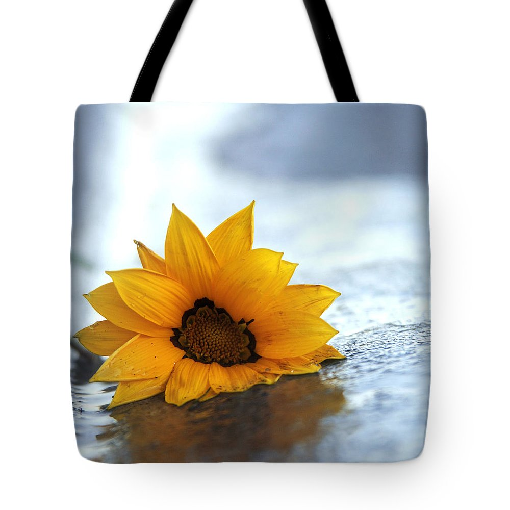 Sunflower Tote Bag featuring the photograph Sunflower by Martine Vail