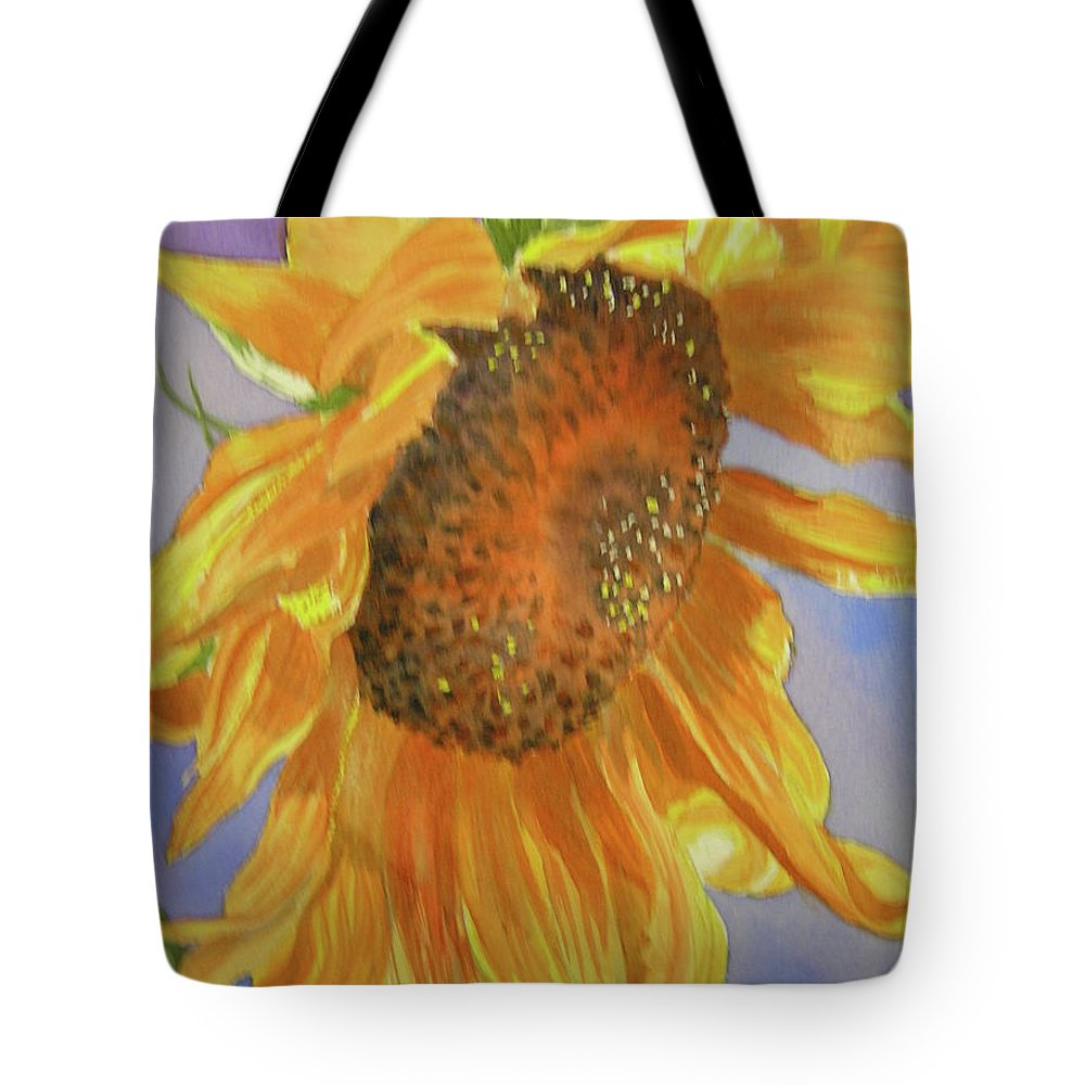 Sunflower Tote Bag featuring the painting Sunflower by Midge Pippel