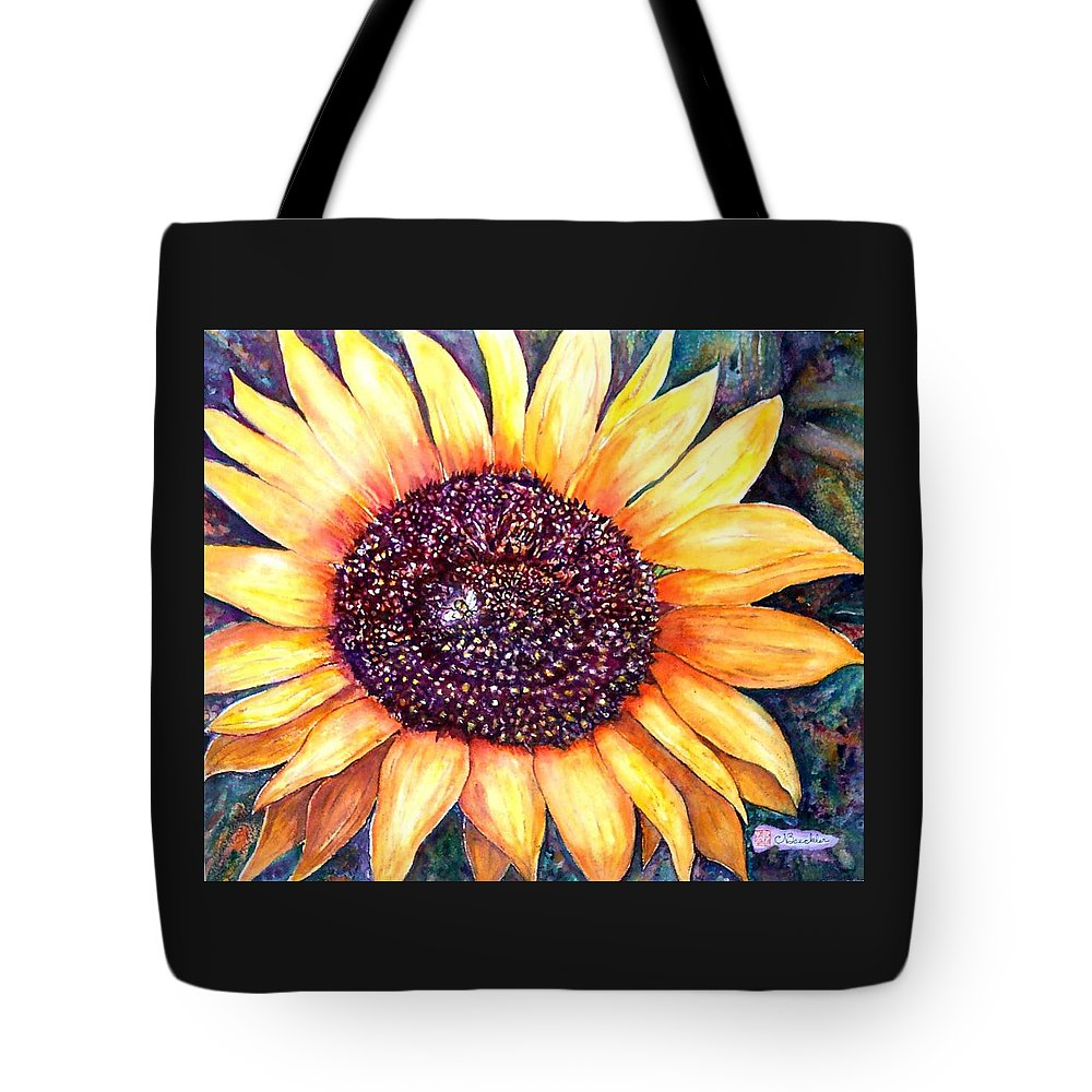 Sunflower Tote Bag featuring the painting Sunflower Of Georgia by Norma Boeckler