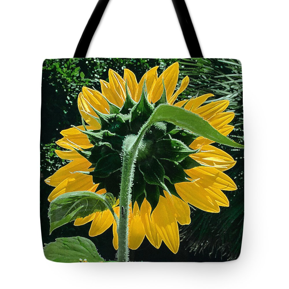 Sunflower Tote Bag featuring the photograph Sunflower Rear by Stan Magnan
